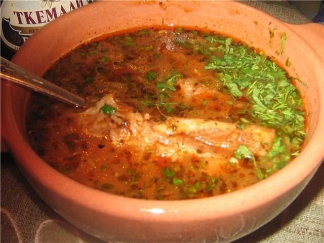 Как приготовить суп с хмели-сунели