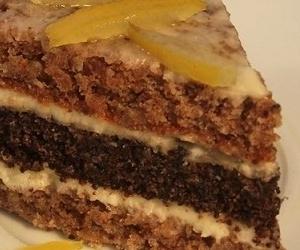 Торт с маком и орехами
