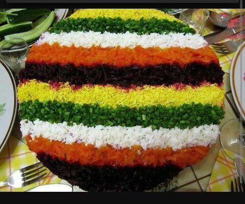 Овощной салатик радуга