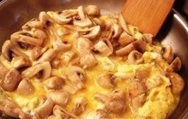 omlet s gribami massa
