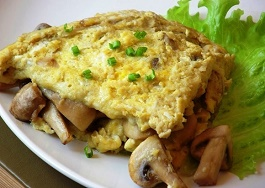 omlet s gribami recept